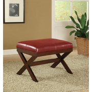 Crown Mark Bronson X Bedroom Bench; Red