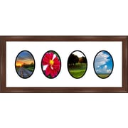 Frames By Mail 4 Oval Opening Collage Picture Frame; 6'' x 4''