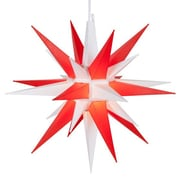 Kringle Traditions LED Moravian Star; White/Red