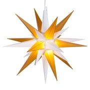 Kringle Traditions LED Moravian Star; White/Gold