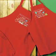 Abbey Press Christmas 2 Piece Poly Cotton Adult and Child Apron Set
