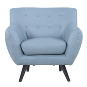 Madison Home USA Mid Century Modern Tufted Bonded Leather Club Chair; Grey