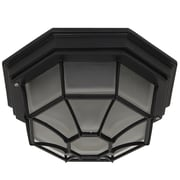 Y Decor Megan 1 Light Outdoor Flush Mount; Black