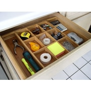 Axis International Bamboo Expandable Drawer Organizer by
