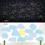 WallCandy Arts Sunny Day Starry Night Glow in The Dark Wall Decal