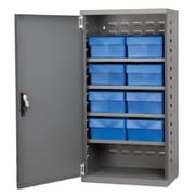 Akro Mils 38''H x 19.25''W x 13.25''D 8 Drawer Storage Cabinet; Gray/Blue
