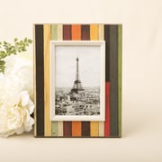 FashionCraft Distressed Wood Look Vertical Striped Picture Frame; 4'' x 6''