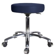 Perch Chairs & Stools Height Adjustable Swivel Stool; Imperial Blue Vinyl