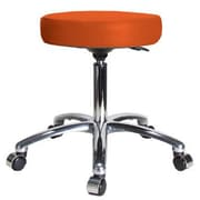 Perch Chairs & Stools Height Adjustable Swivel Stool; Orange Kist