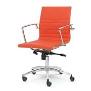 Winport Industries Winport Mid-Back Desk Chair; Orange