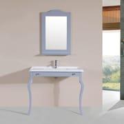 PacificCollection Marina 40'' Single Traditional Bathroom Vanity Set; Gray