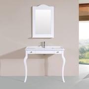 PacificCollection Marina 40'' Single Traditional Bathroom Vanity Set; White