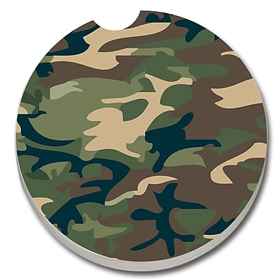 CounterArt Absorbent Stone Camouflage Car Coaster (Set of 2) WYF078279300766