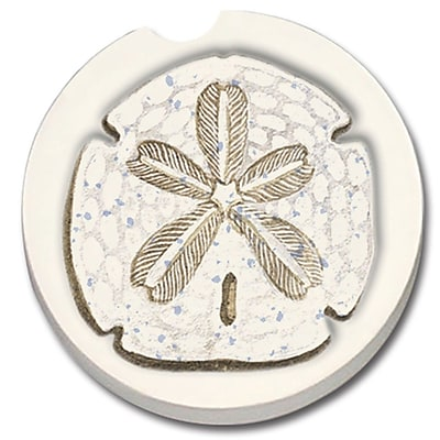 CounterArt Absorbent Stone Sand Dollar Car Coaster (Set of 2) WYF078279300789