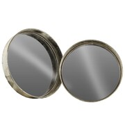 Urban Trends 2 Piece Round Wall Mirror Set; Silver