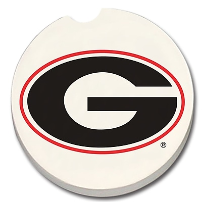 CounterArt NCAA Car Coaster (Set of 2); Georgia Bulldogs WYF078279303952