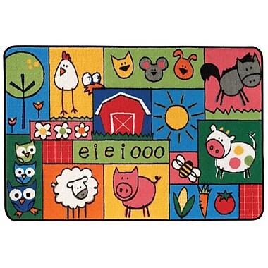 Kids Value Rugs Old MacDonald Farm Kids Area Rug; 4' x 6'