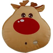 Tache Home Fashion Red Nosed Reindeer Cute Christmas Lights LED Light up Throw Pillow