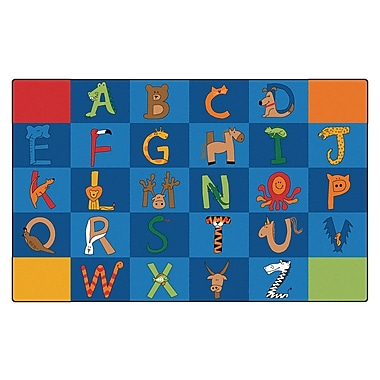 Carpets for Kids Literacy A to Z Animals Kids Rug; 7'6'' x 12'