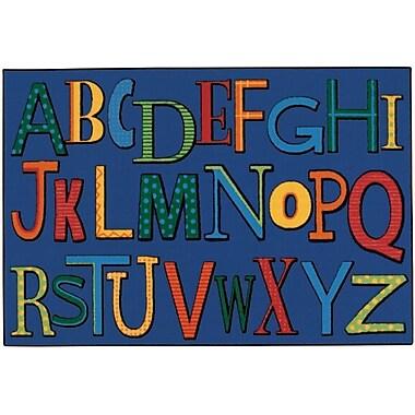Kids Value Rugs Playful Alphabet Kids Rug; 3' x 4'6''