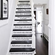 Decal House 13 Steps Stairway Decal; Burgundy