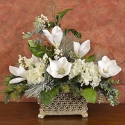 Floral Home Decor Elegant Magnolia Floral Arrangement