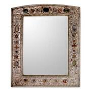 Novica Treasure Nickel Plated Brass/ Polyester Framed Mirror