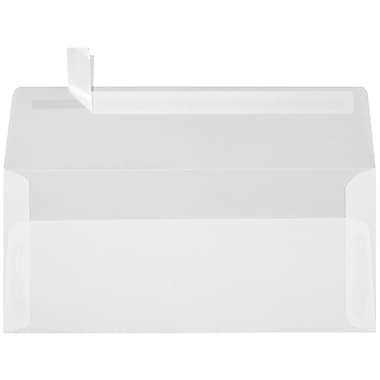 LUX Peel & Press - #10 Square Flap Envelopes (4 1/8 x 9 1/2) - 250/Box - Clear Translucent (4860-00-250)