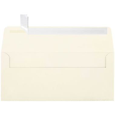 LUX Peel & Press - #10 Square Flap Envelopes (4 1/8 x 9 1/2) - 250/Box - Natural Linen (4860-NLI-250)