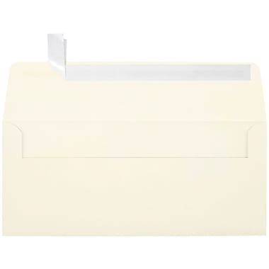 LUX Peel & Press #10 Square Flap Envelopes (4 1/8 x 9 1/2) 1000/Box, Natural (4860-NPC-1000)