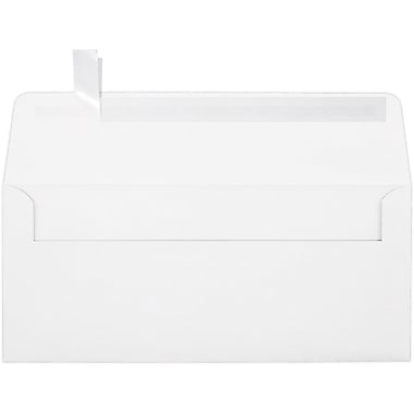 LUX Peel & Press #10 Square Flap Envelopes (4 1/8 x 9 1/2) 100% Cotton 1000/Box, Bright White (4860-SW-1000)