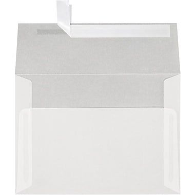 LUX A7 Invitation Envelopes (5 1/4 x 7 1/4) 50/Box, Clear Translucent (4880-00-50)