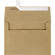 "LUX® 5 1/4"" x 7 1/4"" 70lbs. A7 Invitation Envelopes W/Peel & Press, Grocery Bag Brown, 50/Pack"