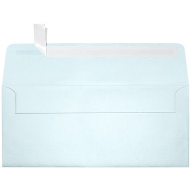 LUX Peel & Press - #10 Square Flap Envelopes (4 1/8 x 9 1/2) - 1000/Box - Aquamarine Metallic (5360-02-1000)