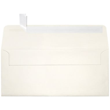 LUX Peel & Press #10 Square Flap Envelopes (4 1/8 x 9 1/2) 1000/Box, Quartz Metallic (5360-08-1000)