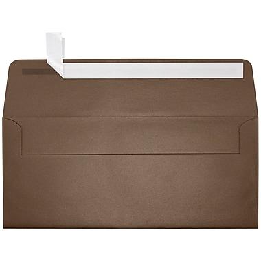 LUX Peel & Press #10 Square Flap Envelopes (4 1/8 x 9 1/2) 50/Pack, Bronze Metallic (5360-12-50)