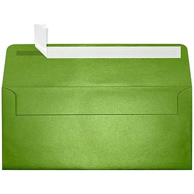 LUX Peel & Press #10 Square Flap Envelopes (4 1/8 x 9 1/2) 1000/Box, Fairway Metallic (5360-25-1000)