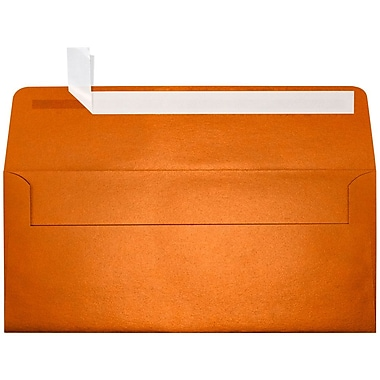 LUX Peel & Press #10 Square Flap Envelopes (4 1/8 x 9 1/2) 500/Box, Flame Metallic (5360-26-500)