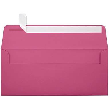 LUX Peel & Press - #10 Square Flap Envelopes (4 1/8 x 9 1/2) - 1000/Box - Magenta (EX4860-10-1000)
