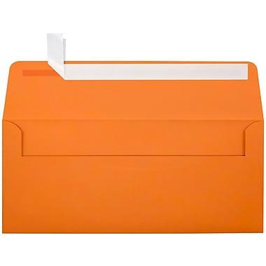 LUX Peel & Press #10 Square Flap Envelopes (4 1/8 x 9 1/2) 500/Box, Mandarin Orange (EX4860-11-500)