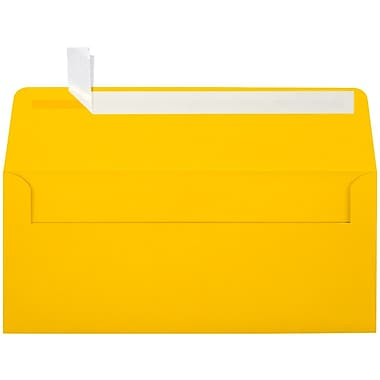 LUX Peel & Press #10 Square Flap Envelopes (4 1/8 x 9 1/2) 250/Box, Sunflower Yellow (EX4860-12-250)