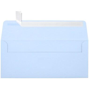 LUX Peel & Press #10 Square Flap Envelopes (4 1/8 x 9 1/2) 250/Box, Baby Blue (EX4860-13-250)