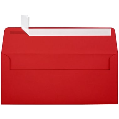 LUX Peel & Press - #10 Square Flap Envelopes (4 1/8 x 9 1/2) - 250/Box - Ruby Red (EX4860-18-250)