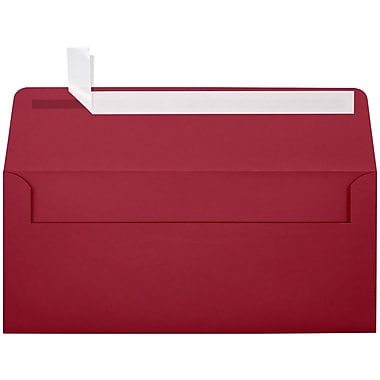 LUX Peel & Press #10 Square Flap Envelopes (4 1/8 x 9 1/2) 50/Pack, Garnet (EX4860-26-50)