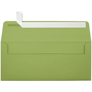 LUX Peel & Press - #10 Square Flap Envelopes (4 1/8 x 9 1/2) - 250/Box - Avocado Green (EX4860-27-250)