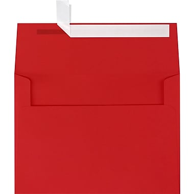 LUX A7 Invitation Envelopes (5 1/4 x 7 1/4) 1000/Box, Ruby Red (EX4880-18-1000)