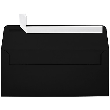 LUX Peel & Press - #10 Square Flap Envelopes (4 1/8 x 9 1/2) - 500/Box - Midnight Black (F-4560-B-500)