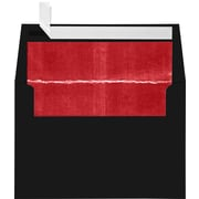 "LUX® A4 (4 1/4"" x 6 1/4"") Envelopes, Black/Red LUX Lining, 1000/BX"