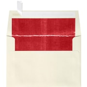 "LUX® 70lbs. 4 1/4"" x 6 1/4"" A4 Photo, Invitation Envelopes W/Peel &Press, Natural/Red LUX, 250/BX"