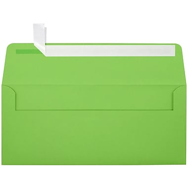 LUX Peel & Press #10 Square Flap Invitation Envelopes (4 1/8 x 9 1/2) 250/Box, Limelight Green (LUX-4860-101-25)